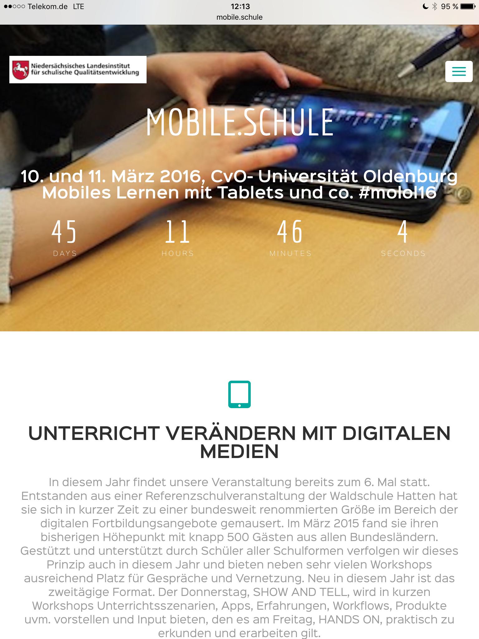 Mobile Schule 2016 in Oldenburg